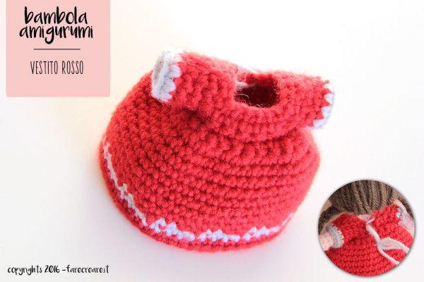 Amigurumi Schemi Italiano Gratis : Tutorial per creare la mini bambola amigurumi schema vestito rosso