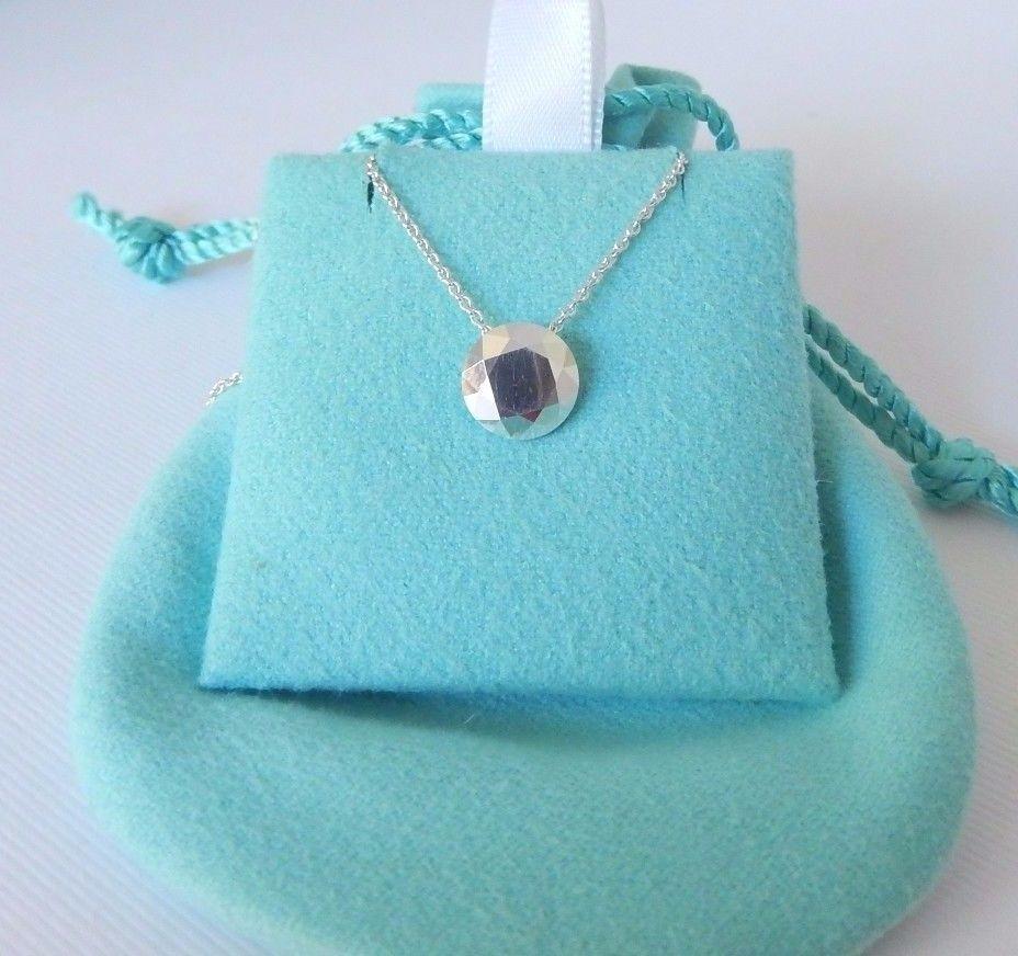 a2f208f8c7684 Tiffany & Co Elsa Peretti Silver 2 Carat Ct Faceted Pendant Chain 16 ...