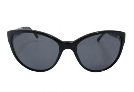 2b75fc6af95b76 Lunettes soleil Chanel neuves branche entrelaçée cuir bordeaux   Noir    chanel 5215q