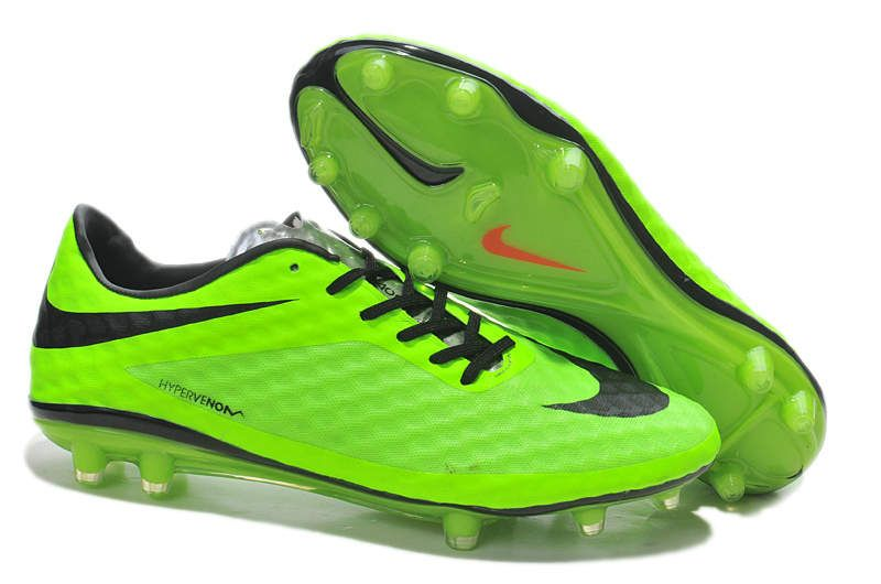 Best Nike Hypervenom Phantom FG Football Boots Sale Fluorescent Green Black