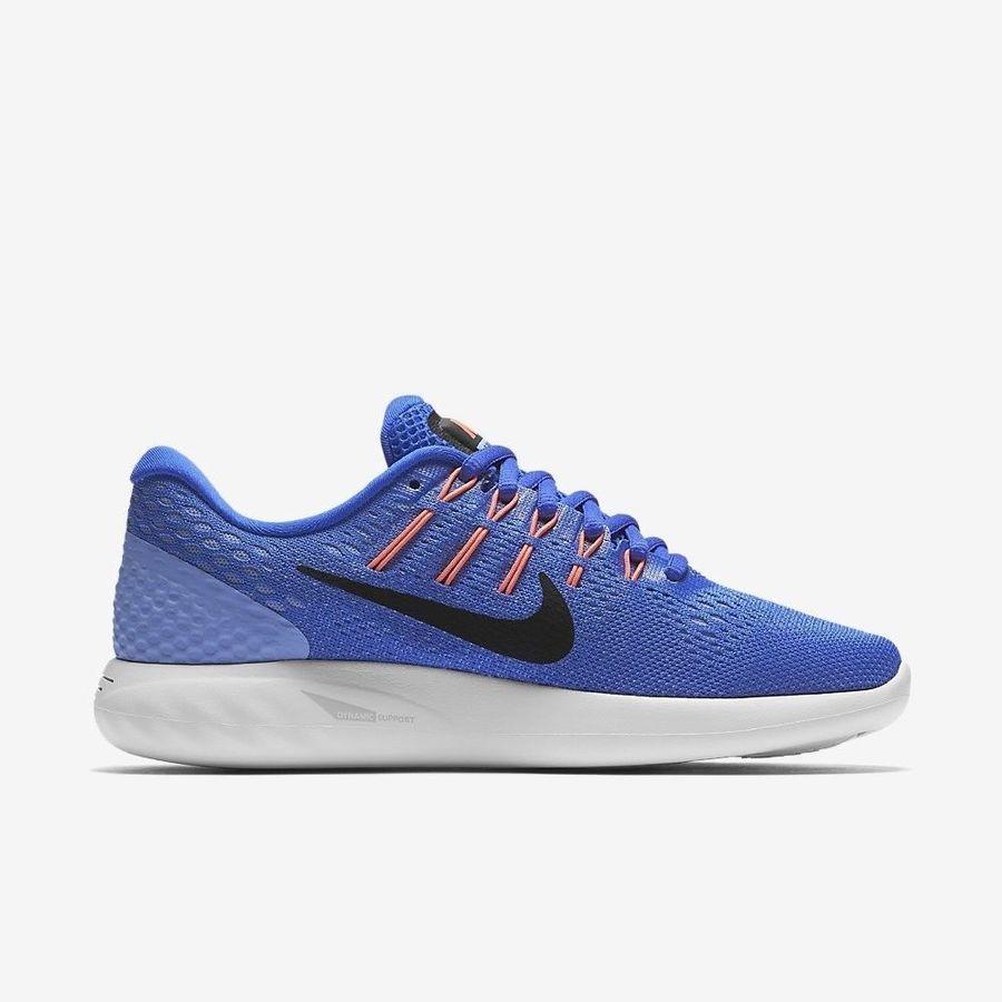 8539fb4f391 Nike Lunarglide 8 AA8677-406 Blue Black White Women s Stability Running  Shoes Blue Black Nike