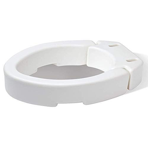 Carex Elongated Hinged Toilet Seat Riser Adds 3 5 Inches Of