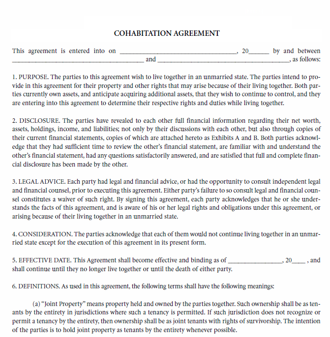 image about Free Printable Cohabitation Agreement identify Totally free Printable Cohabitation Arrangement Refreshing Appreciate Templates