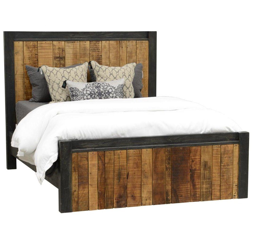 Restoration Rustic King Panel Bed Frame Classic Home Furniture Furniture Diy Bedroom Decor