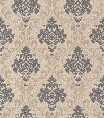 vliestapete rasch gentle elegance 4 braun wohnen pinterest tapeten damast und. Black Bedroom Furniture Sets. Home Design Ideas