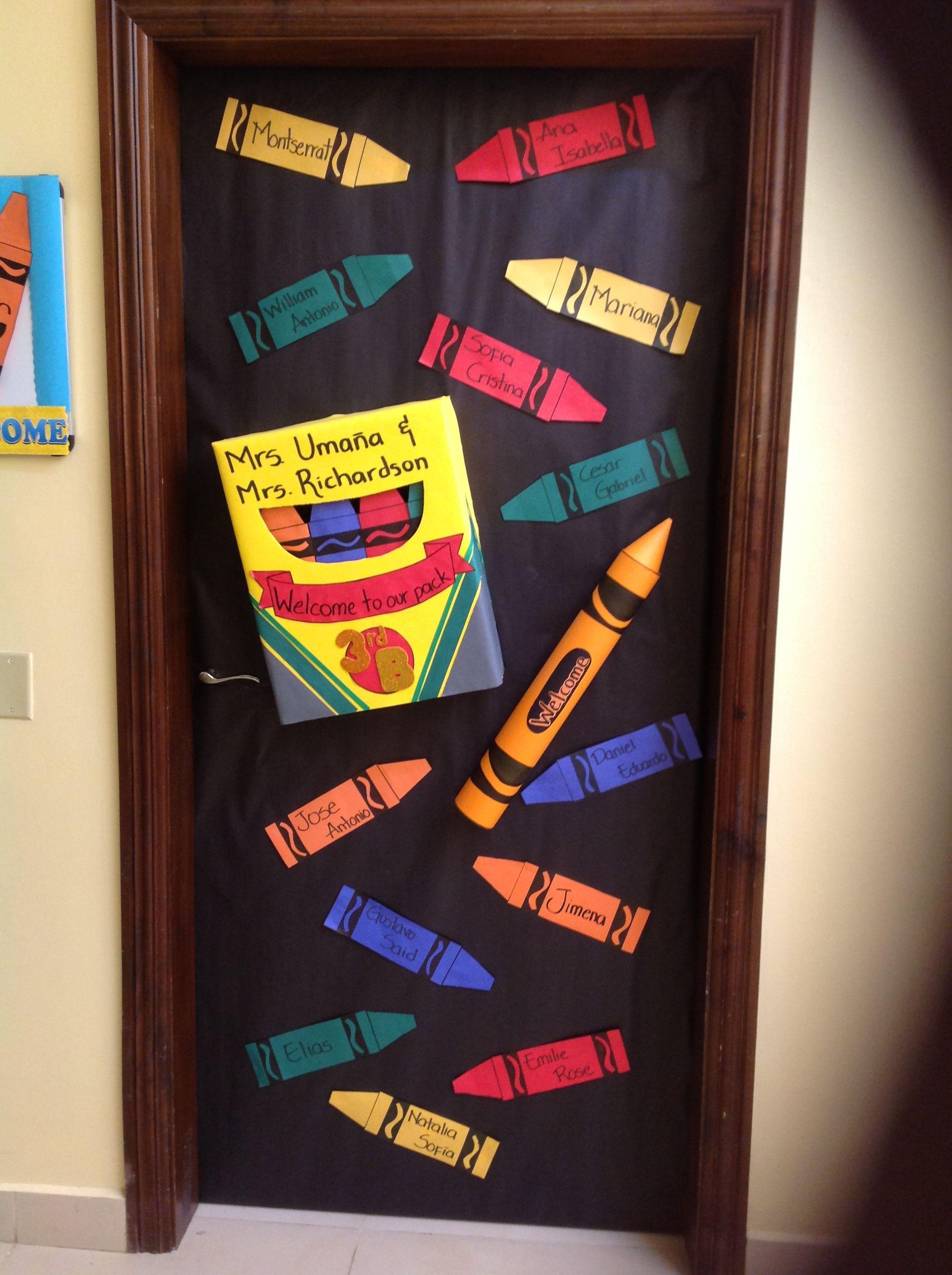 Decoraciones de puertas decoraci n clases pinterest for Puertas escolares decoradas