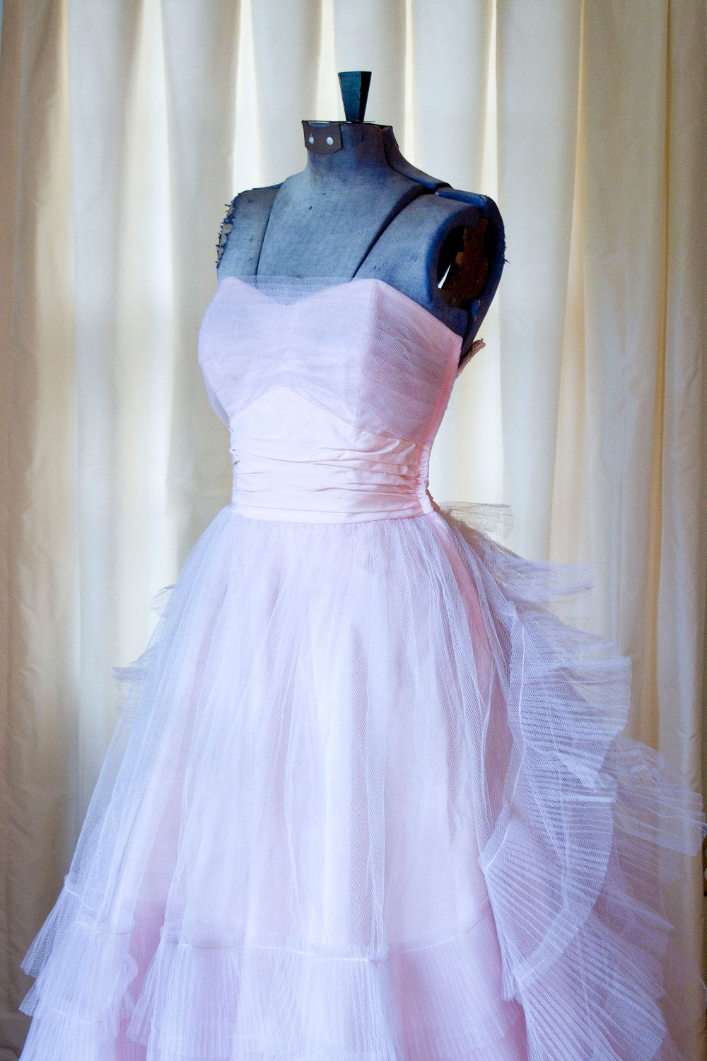 Us prom dress pink pleated tulle strapless party prom dress