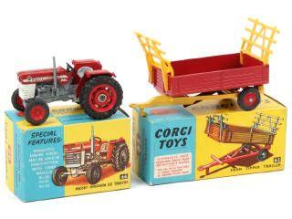 CORGI MASSEY FERGUSON 165 tracteurs agricoles côté autocollants de remplacement NEUF code 3