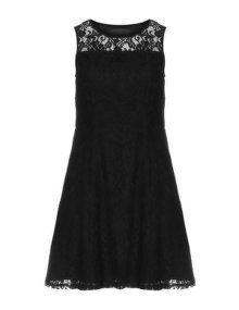 Manon Baptiste Lace midi dress in Black