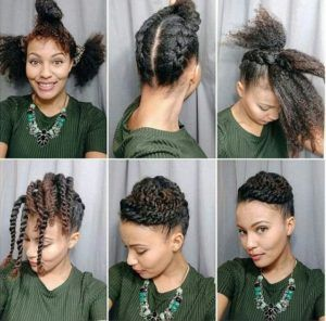 African American Natural Hairstyles For Medium Length Hair Natural Hair Updo Hair Styles Medium Length Hair Styles
