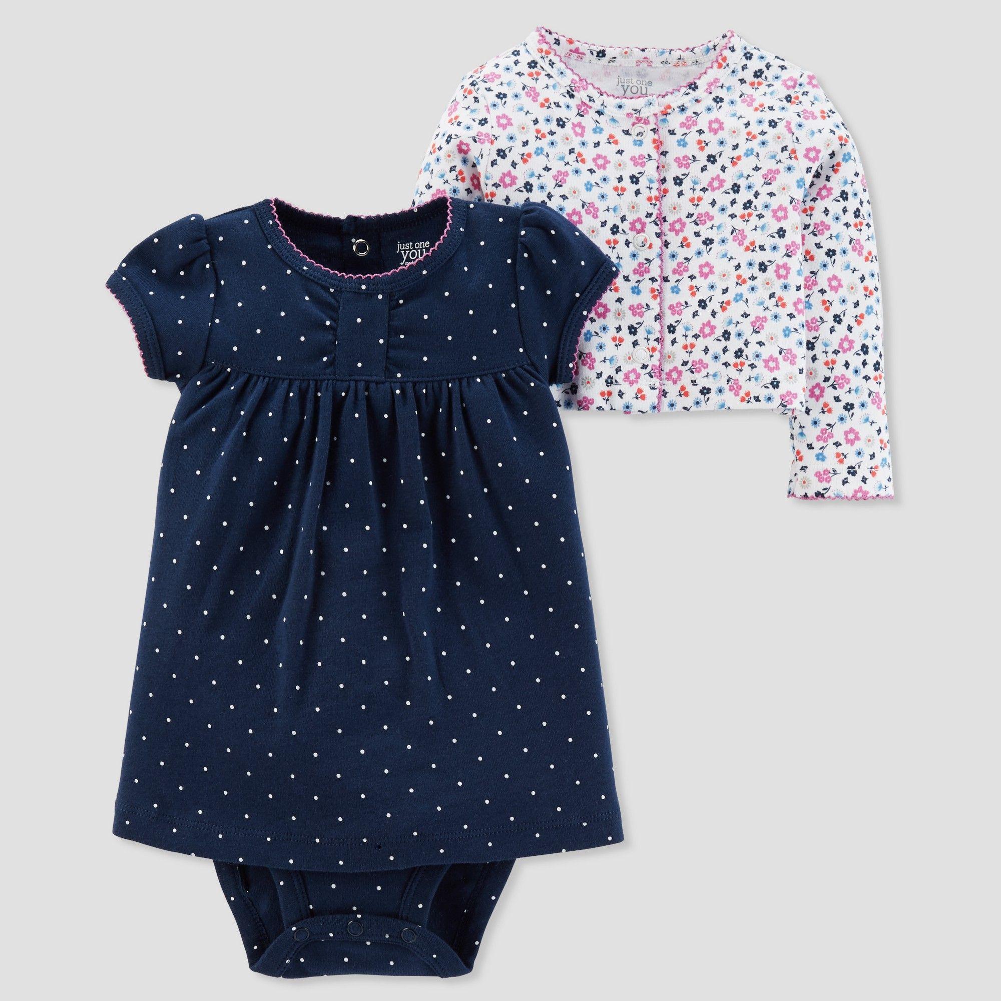 a408e50d3b3ba Baby Girls' 2pc Print Dress Set - Just One You made by carter's Navy 3M,  Blue