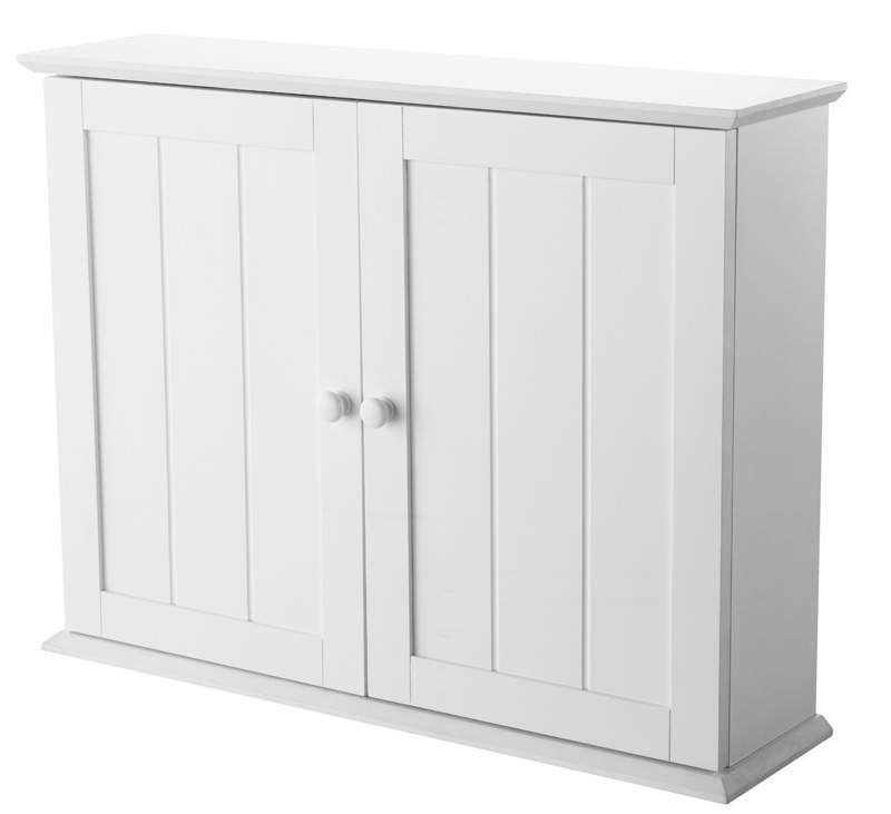 Matt White Double Door Shaker Style Bathroom Cabinet Denver Image