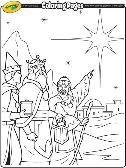 Three kings coloring page www crayola com