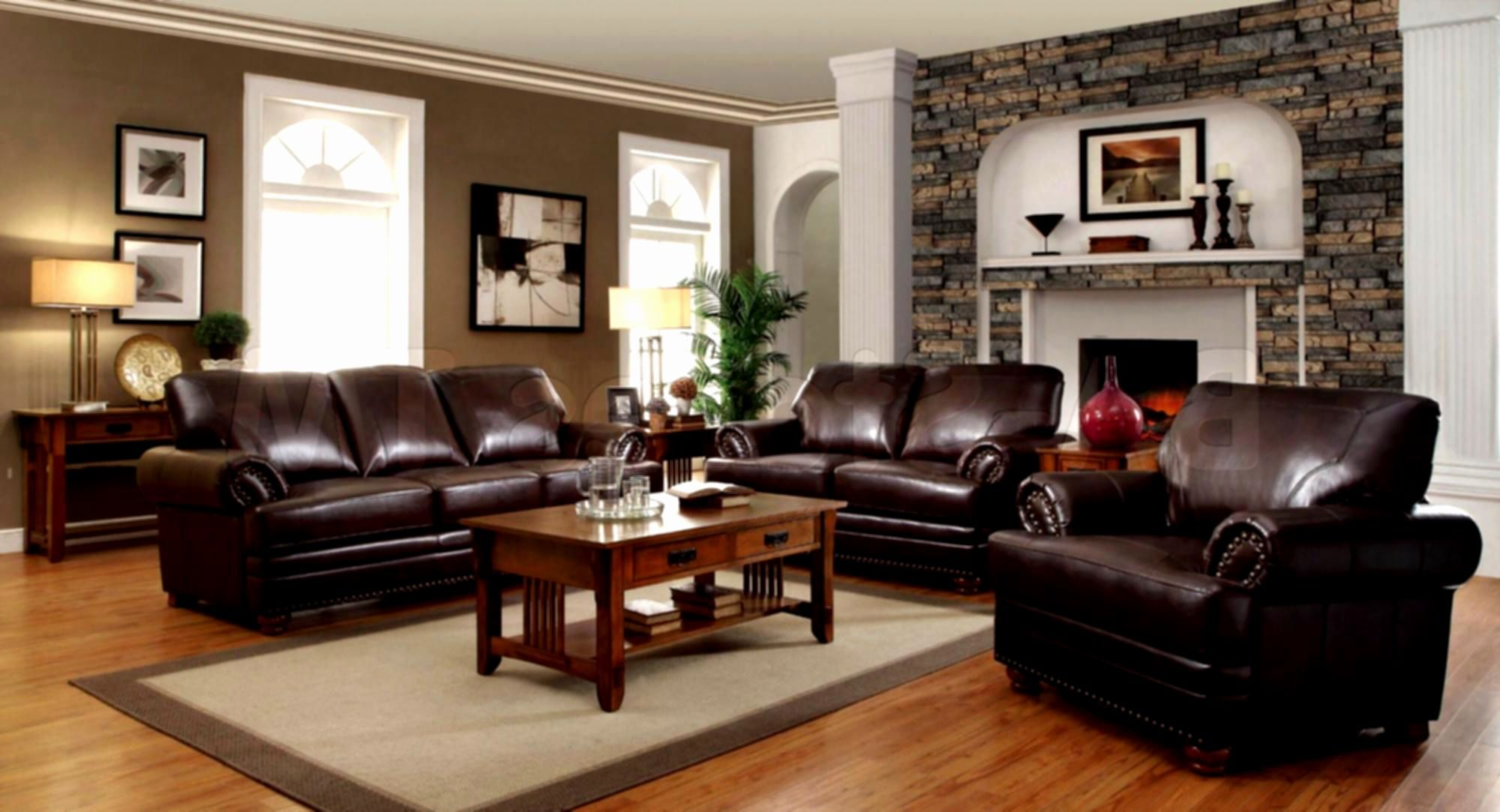 awesome brown leather sofa set photos pictures of living rooms with rh pinterest com au Black Couch Living Room Ideas Living Room Wall Decor