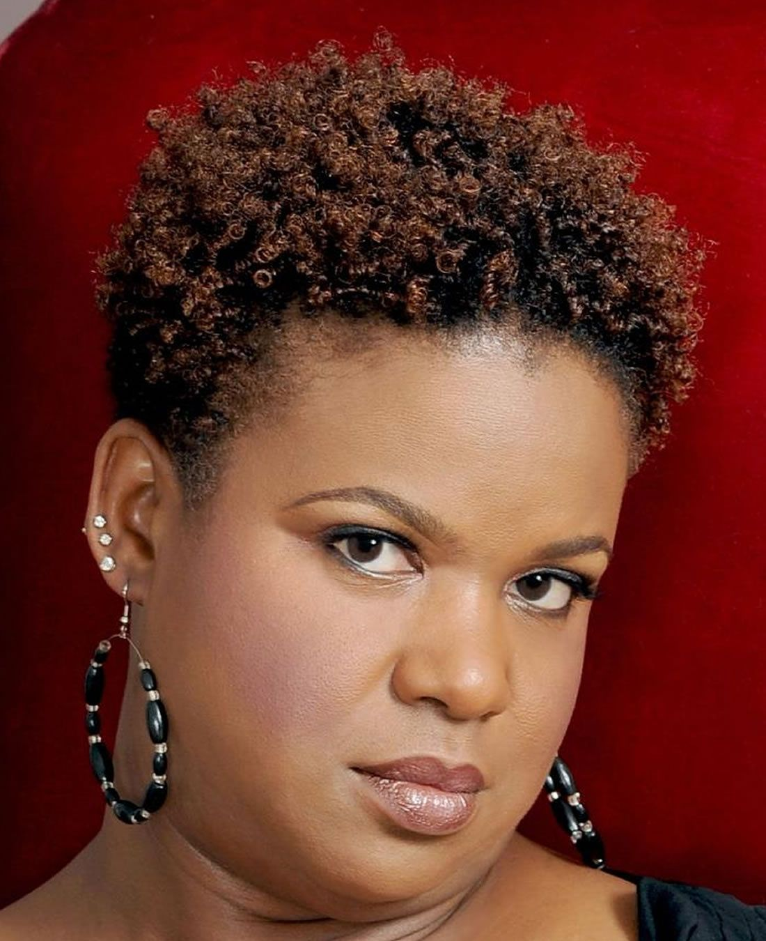 Hairstyle For Round Face Black Ladies Side Part   Black hairstyles ...