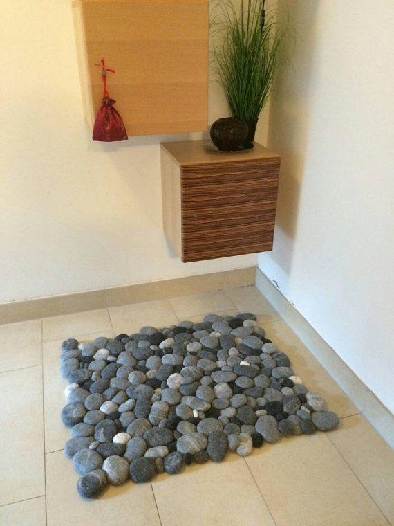 Felt Stone Carpet Wool Super Soft Relief от Flussdesign на Etsy