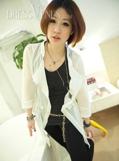 US$17.99 Fabulous Solid Color Coat. #Blouses #Coat #Color #Fabulous