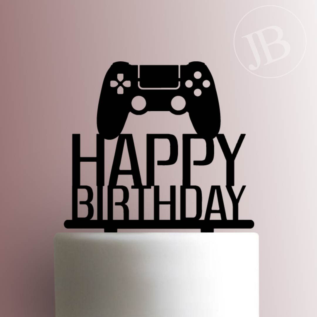 Gamer Birthday Xbox Game Controller Video Game Gamer Personalized Happy Birthday With Name Gaming PlayStation Cake Topper