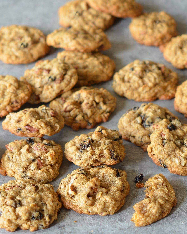 Oatmeal Brown Sugar Cookies with Raisins & Pecans