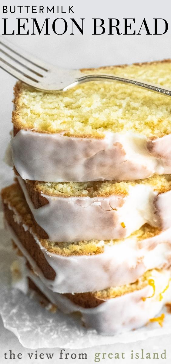 Buttermilk Lemon Bread Is A Moist Lemon Quick Bread With A Super Tangy Glaze Enjoy It For Breakfast For In 2020 Lemon Bread Recipes Lemon Dessert Recipes Lemon Bread