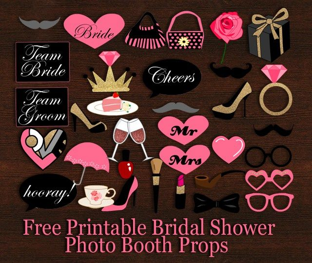 free printable bridal shower photo booth props bridal shower props bride shower printable bridal