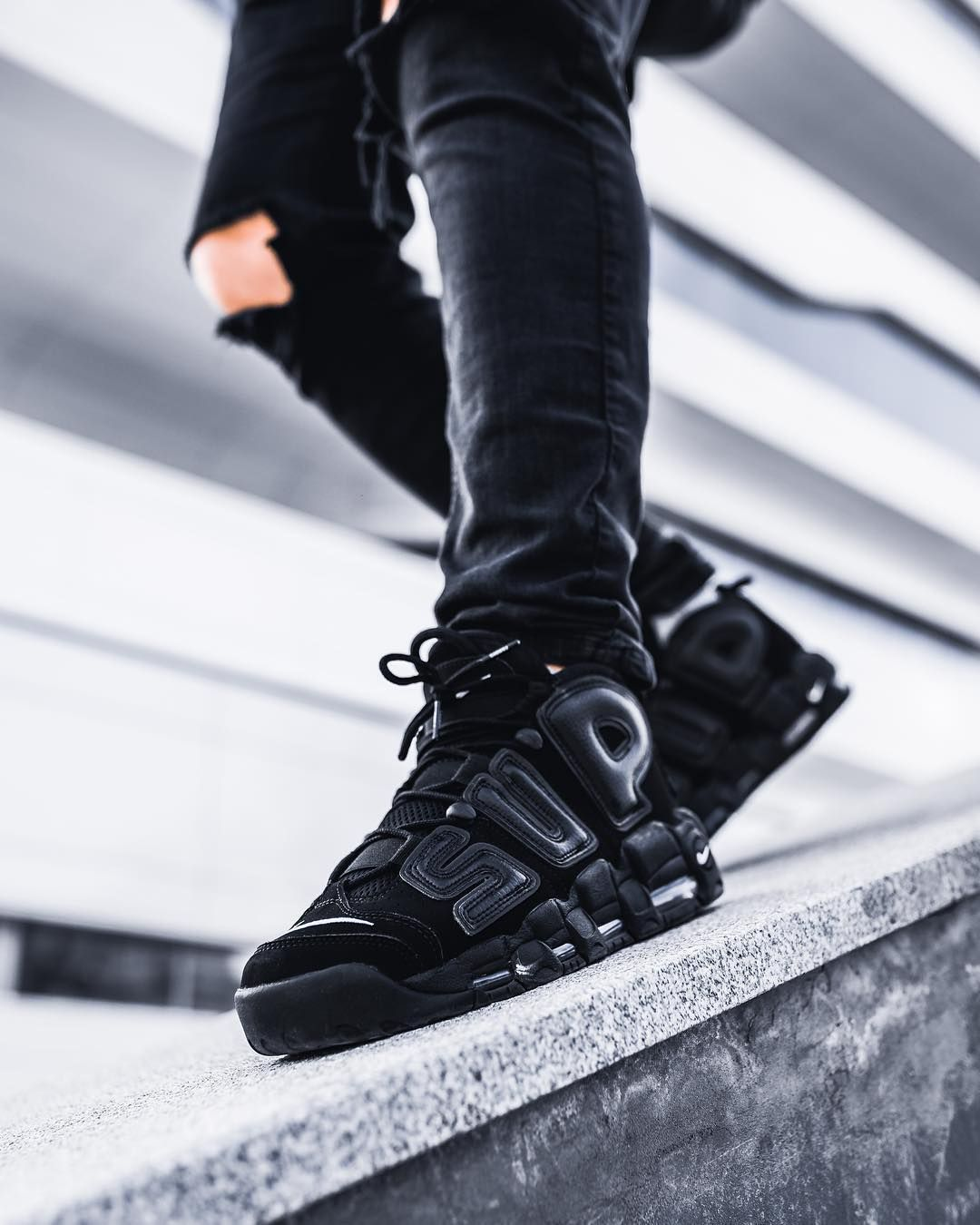 Supreme X Nike Air More Uptempo U0026quot;Suptempou0026quot;   Iu0026#39;m Wayyyyyy Up I Feel Blessed.   Pinterest ...