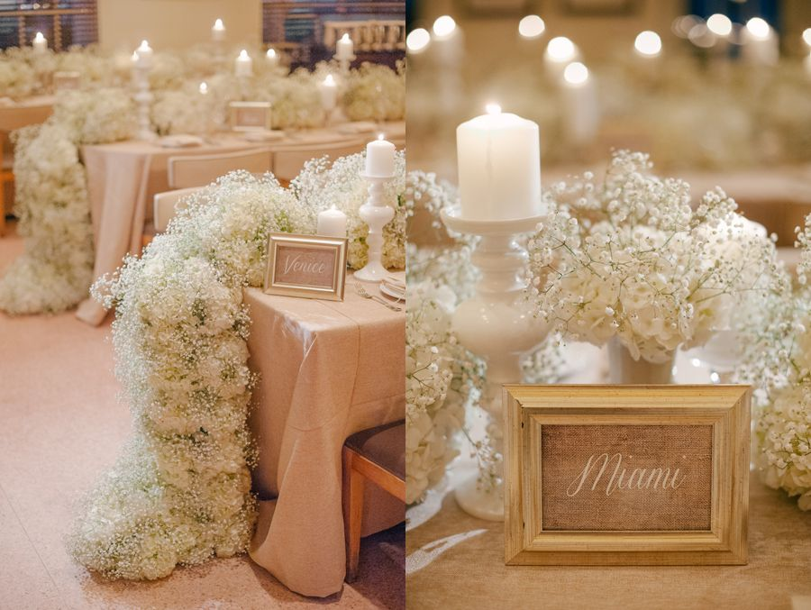 Like the way baby's breath and white hydrangeas look together.