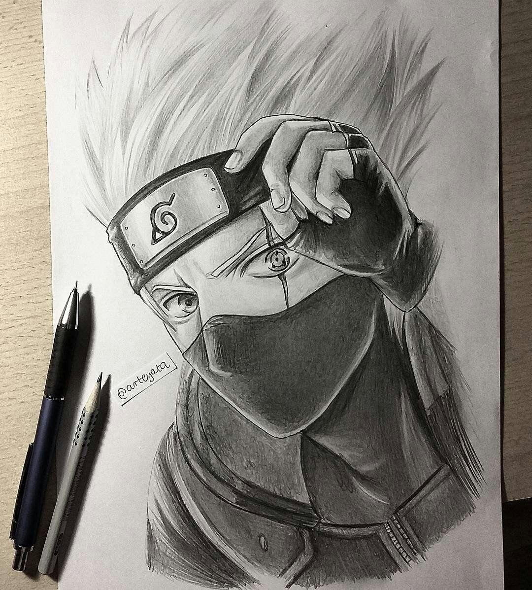 Arteyata Arteyata Twitter Kakashi Hatake Arte Naruto Desenhos