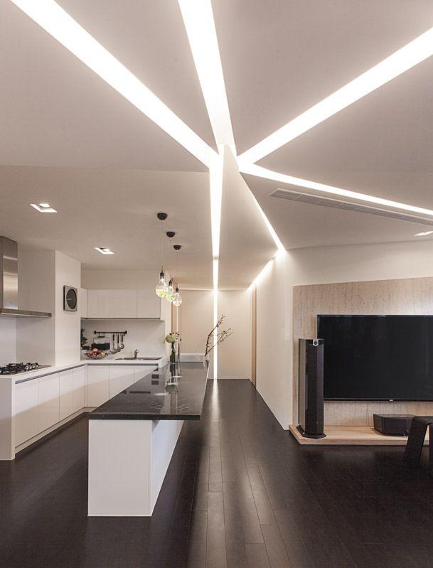 Charming Kitchen Interior Design With Cool Modern Ceiling Lights Also Best Furniture Design Ceiling Design Modern House Ceiling Design Interior Ceiling Design
