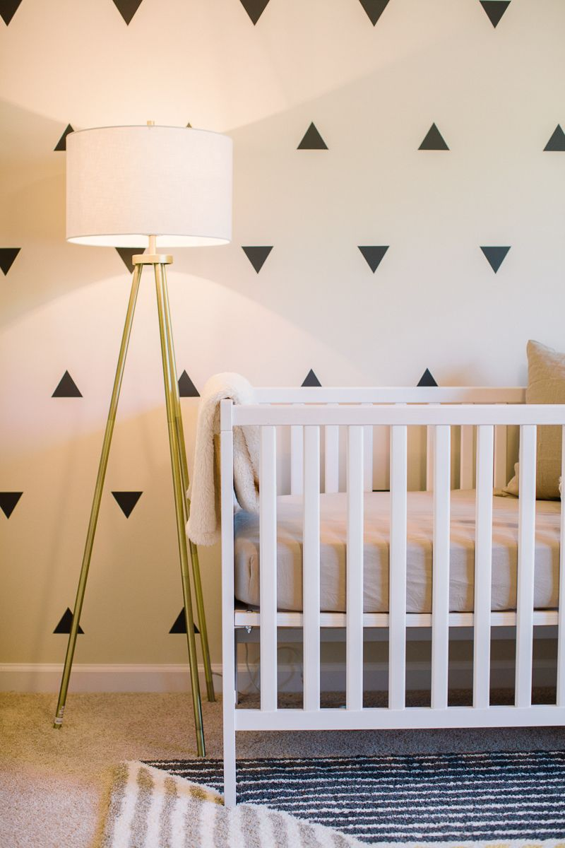 A Neutral Baby Boy Nursery Lighting Room
