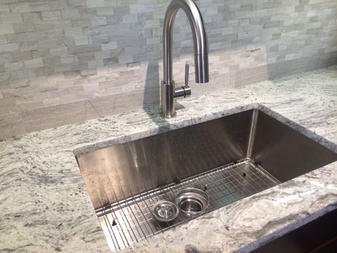 Delta Trask Faucet Kraus 30 Undermount Sink Cci Grey Marble Split Face Natural