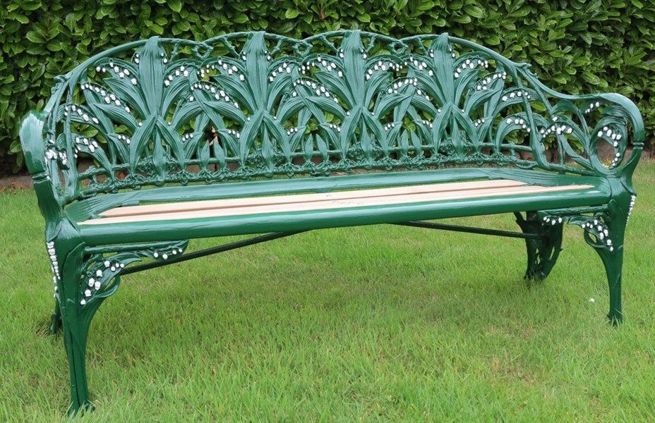 Antique Coalbrookdale Lily of the Valley Cast Iron Garden