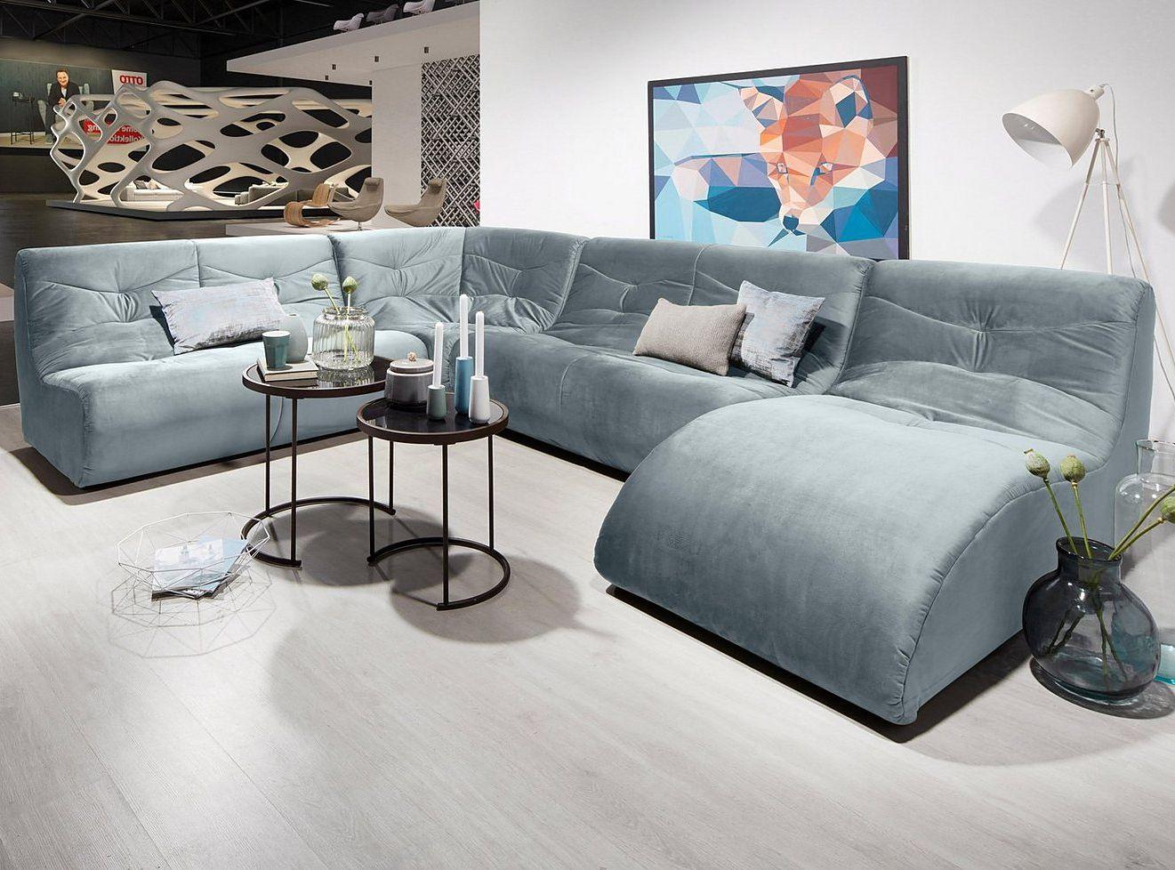 Domo Collection Wohnlandschaft Wohntrend Samt Sofa Interior