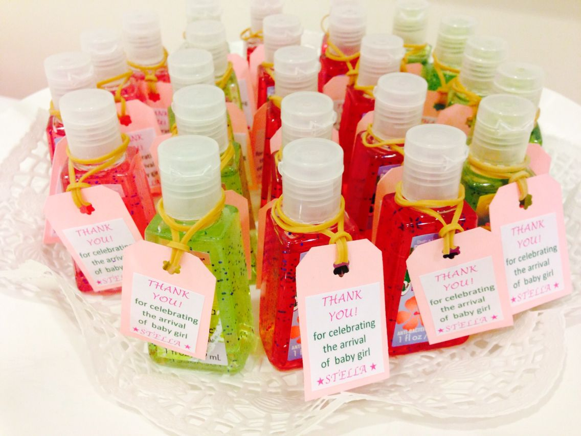 Pocket Antibacterial Hand Sanitizers With Homemade Labels