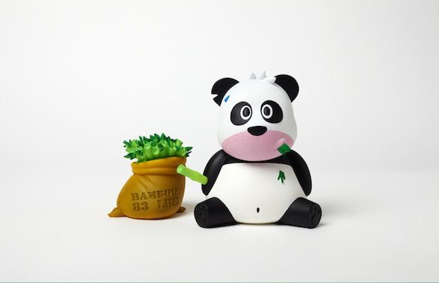 Frank Kozik Snapple Fact Panda Toy
