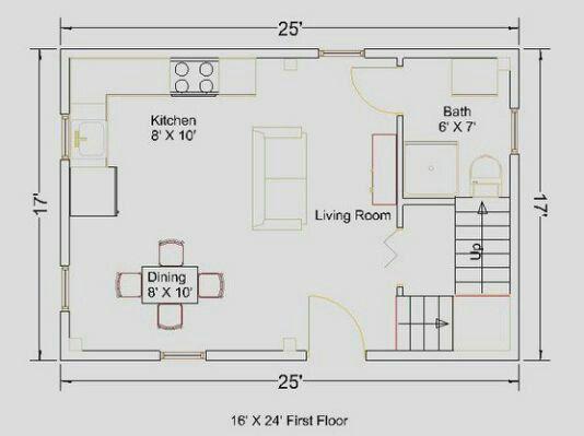 17x25 Floor Plan Tiny House Plans Cabin Plans With Loft Floor Plans