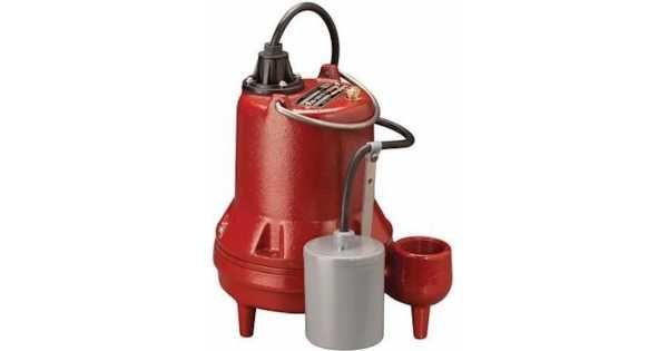 Manual Sump Effluent Pump 10 Cord 1 3hp 115v Effluent Pump