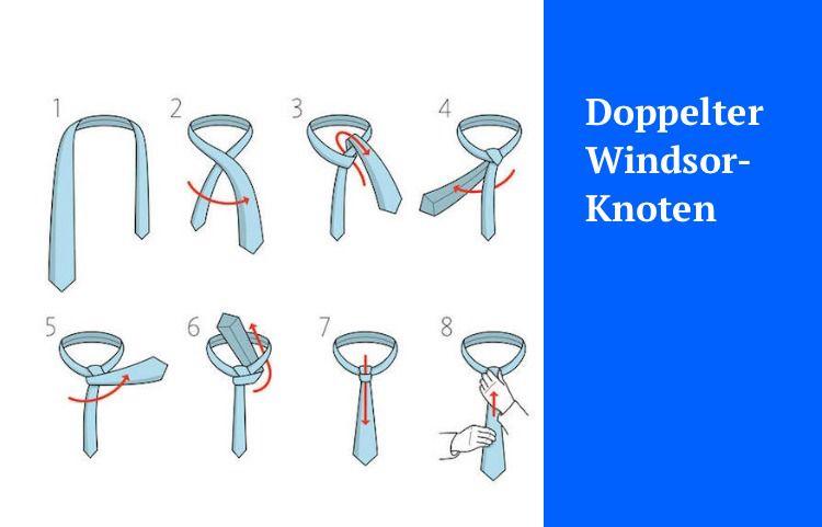 Doppelter krawattenknoten