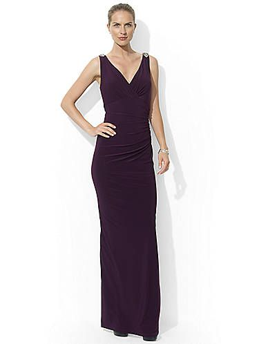 Embellished V Neck Gown Lord And Taylor Best Formal Looks