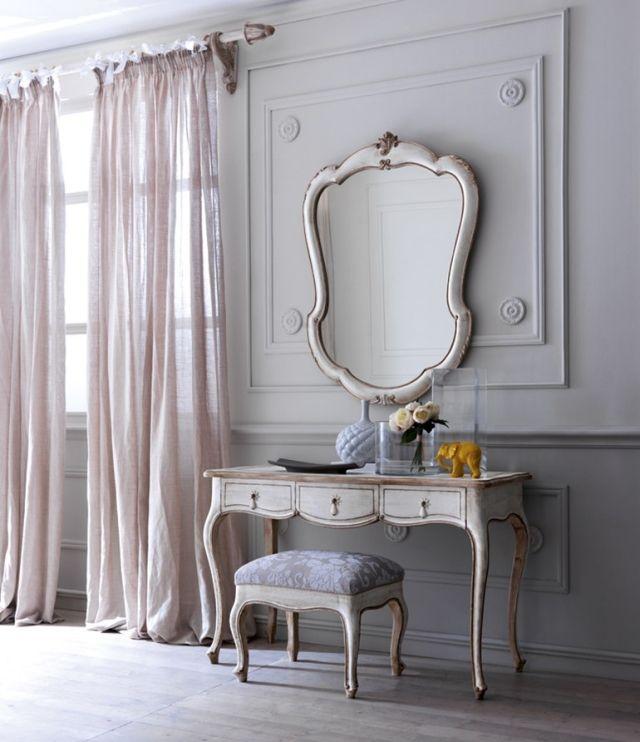 klassischer schminktisch spiegel weiß design gewaschen grifoni