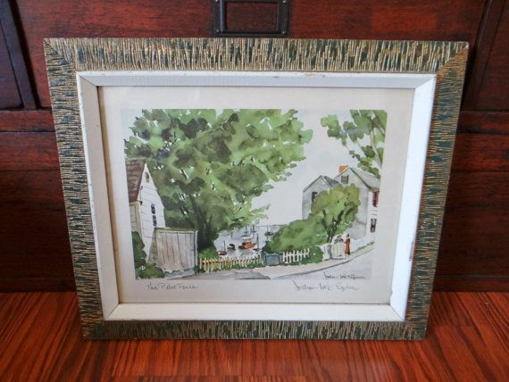 Vintage lithograph William Mck Spierer signed The by thewildburro, $45.00