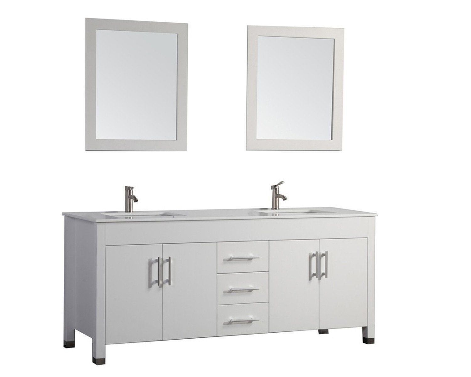 Monaco 84 Double Sink Vanity Set White Double Sink Bathroom