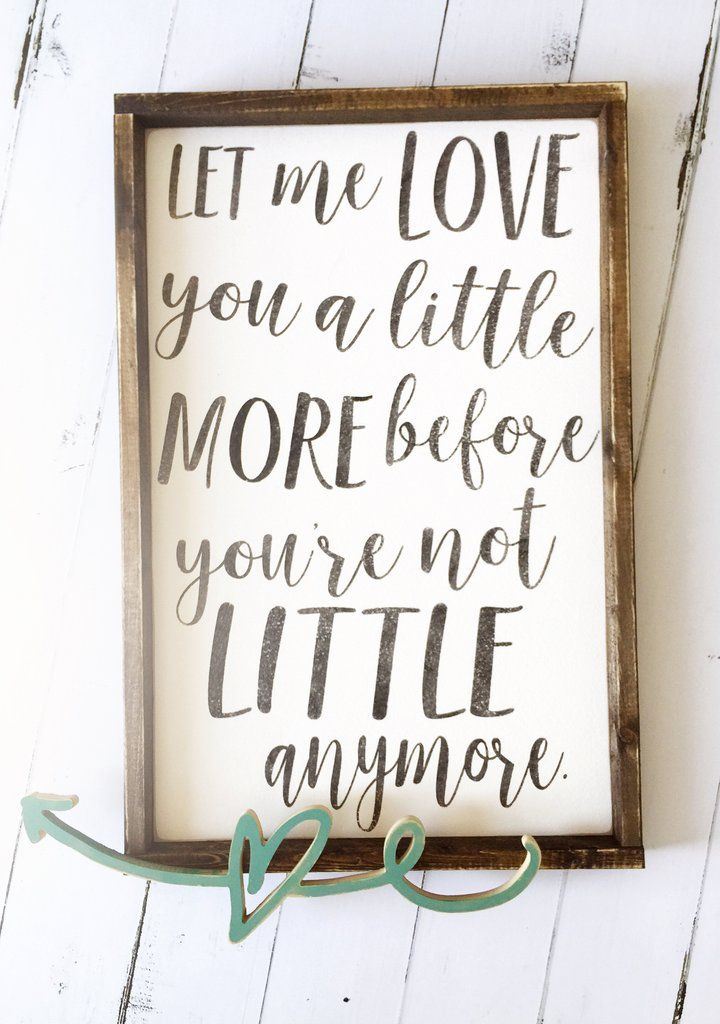 Love You A Little More Rustic Style Wood Sign Wood