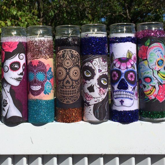 41++ Day of the dead skull candle holder trends
