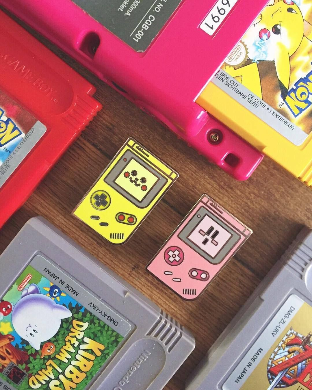 Gameboy Pins made by getalifedesigns -