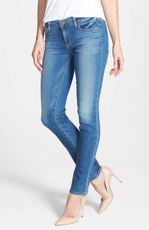 PAIGE DENIM mid rise SKYLINE SKINNY blue denim HERITAGE womens jeans SIZE 29 #PAIGEDENIM #SlimSkinny