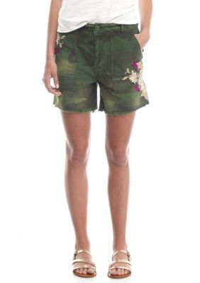 Free People Moss Embroidered Scout Short