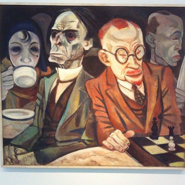 Chess Player By Jeanne Mammen 1929 30 German Art Art Art Eras