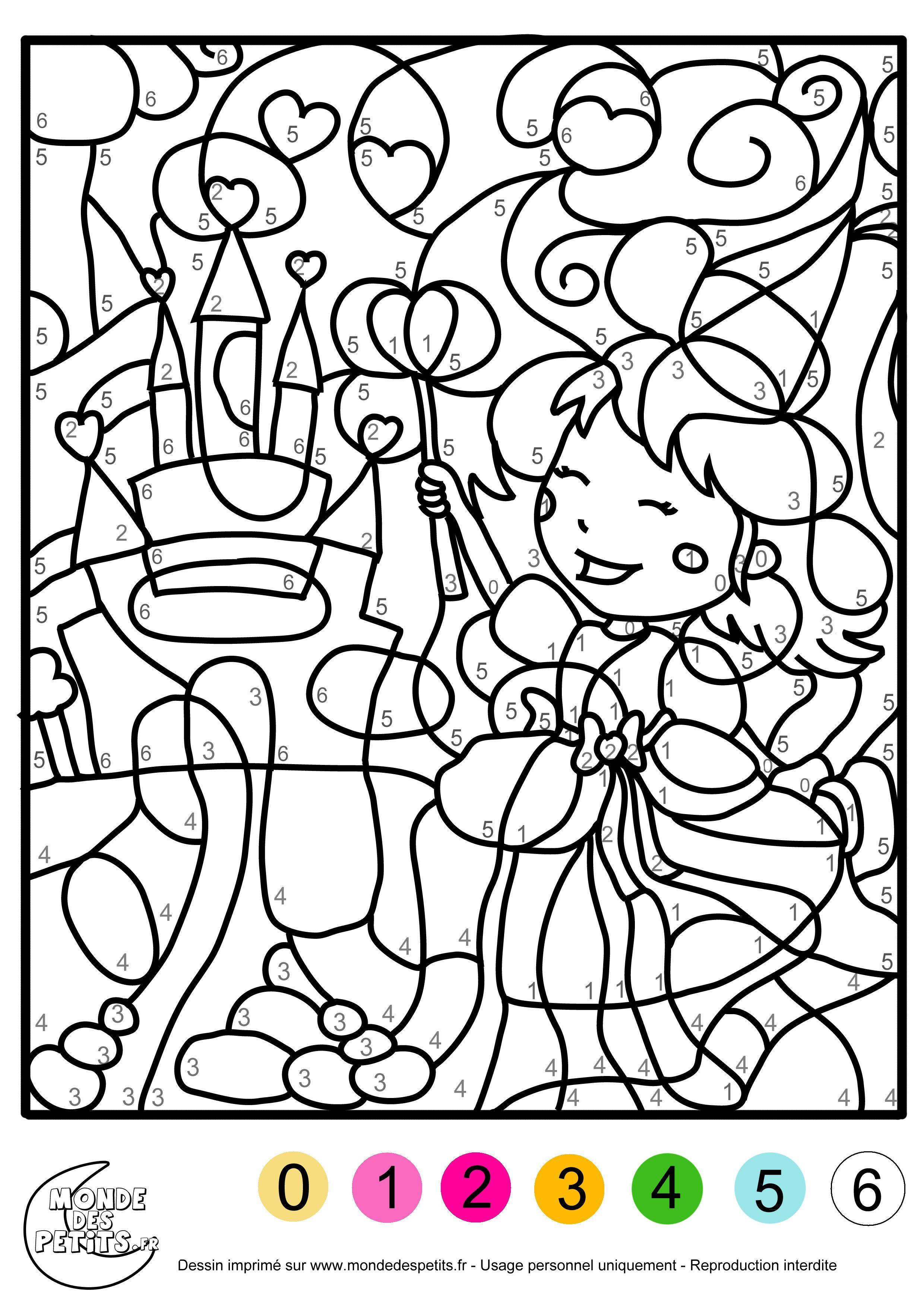 Coloriage A Imprimer Pour Enfant L Coloriage Numerote Coloriage