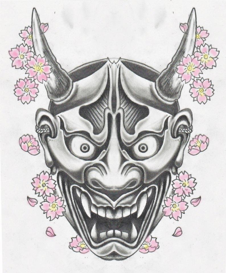 hannya mask 1 pinterest tatouage samourai tattoo. Black Bedroom Furniture Sets. Home Design Ideas